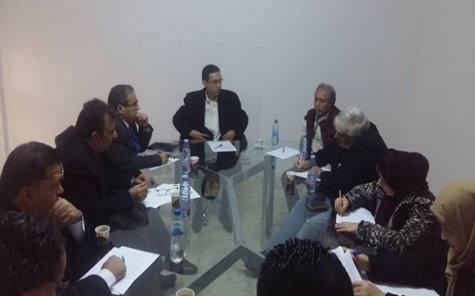 إجتماع مع رئيس الجامعة البريطانية الليبية